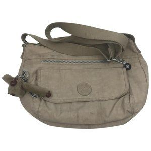 Kipling Tan Nylon Medium Crossbody Bag
